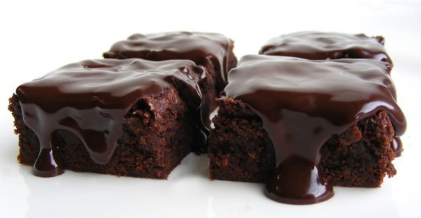 Brownie con ganache de chocolate
